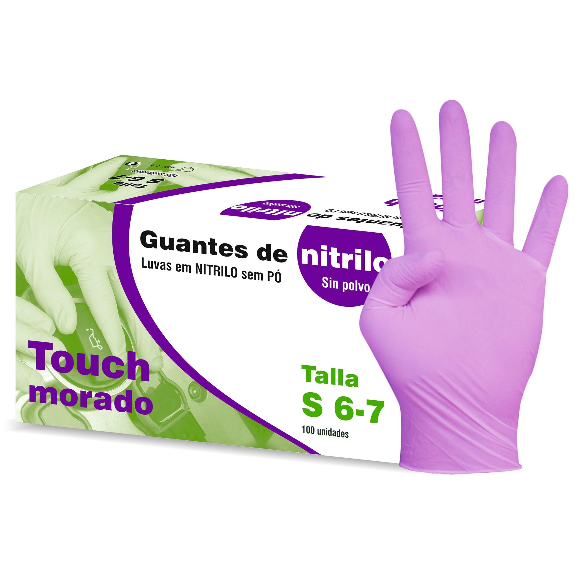 Guantes desechables de nitrilo sin polvo pack 1 x 100  Talla M